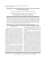 Utilizing some of Screening methots In order to determine of ...