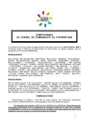 COMPTE-RENDU DU CONSEIL DE ... - le Grand Dijon