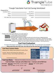 Fuel Savings Calculator - Triangle Tube