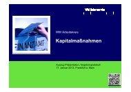 Arbeitskreis Kapitalmaßnahmen 01/2013