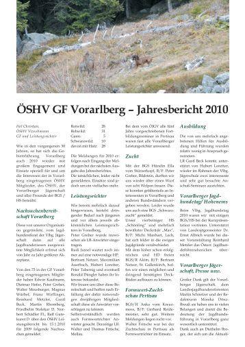 pdf zum ausdrucken - Vorarlberger Jägerschaft