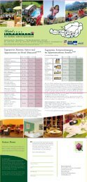Tagespreise Zimmer, Suiten und Appartements im Hotel Almrausch ...