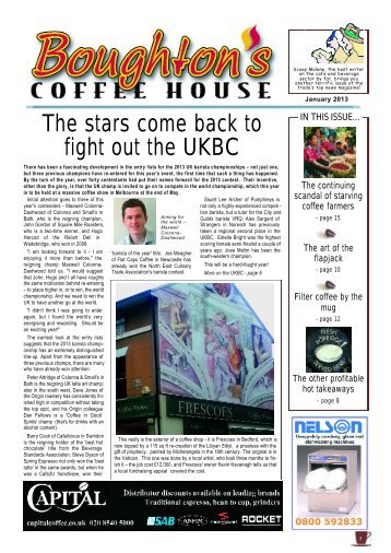 The stars come back to fight out the UKBC - Boughton's Coffee House
