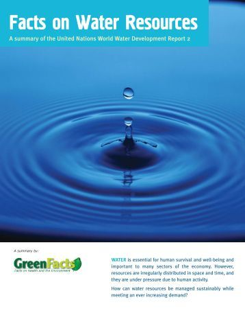 Facts on Water Resources - GreenFacts