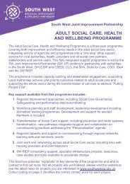 adult social care, health and wellbeing programme - South West ...