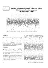 Surgical Repair for a Coronary-Pulmonary Artery Fistula ... - Atcs.jp
