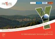 8. Internationales Seniorengolfturnier - Stadt Freyung