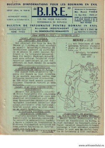 BIRE NR. 233 - arhivaexilului.ro