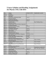Course Syllabus and Reading Assignments for ... - Itai Cohen Group