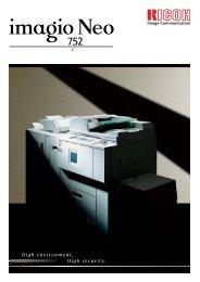 Neo 752製品カタログ PDFダウンロード - リコー