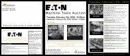 Machine Tools Auction