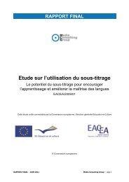 Etude sur l'utilisation du sous-titrage - EACEA - Europa