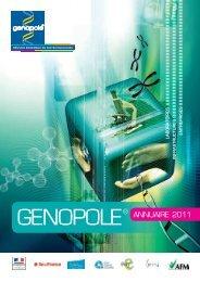 Annuaire Genopole - Partie Institutionnelle - 2011