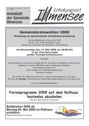 Gemeinderatswahlen 2009 - Illmensee