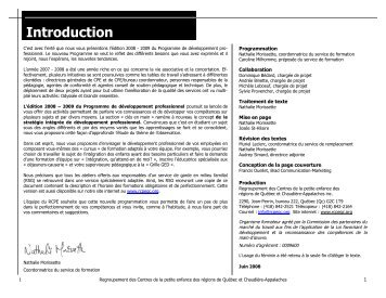 C ette section s'adresse aux - Rcpeqc.org