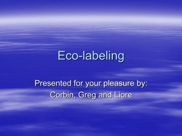 Eco-labeling - Department of Natural Resources