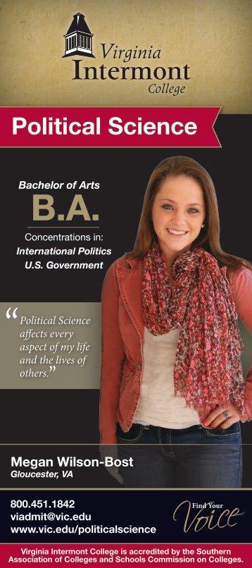 Political Science - Virginia Intermont College