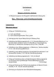 Bau-, Planungs- und Umweltausschusses - Infoportal der Stadt ...