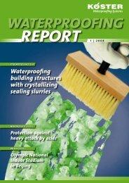 KOESTER Waterproofing Report 2008-1