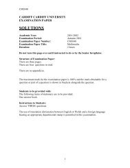 Multimedia BSC Solutions 2002 - Cardiff University