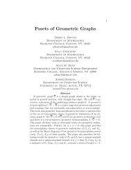 Posets of Geometric Graphs - Hamilton College