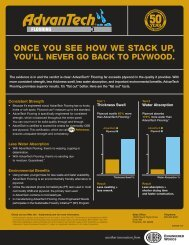 once you see how we stack up, you'll never go back to plywood.