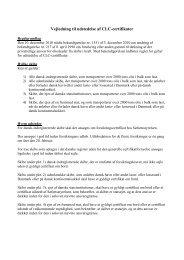 Vejledning til ansøgning om CLC-certifikater - Søfartsstyrelsen