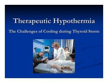 Therapeutic Hypothermia - Emergency Medicine