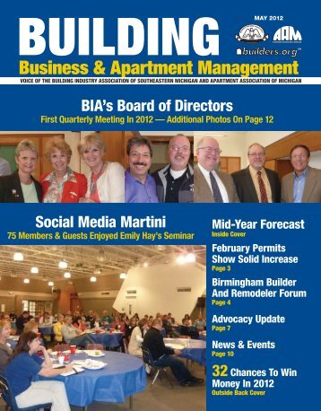 May 2012 BBAM Magazine - HBA of Southeastern Michigan