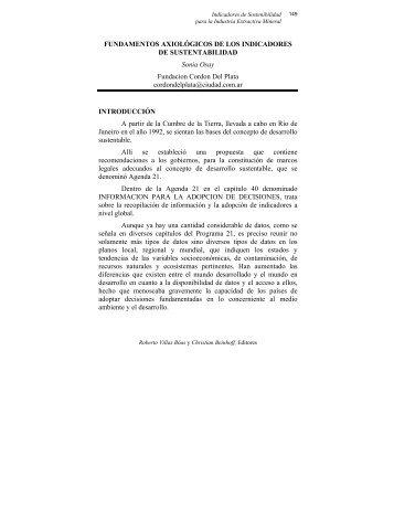 FUNDAMENTOS AXIOLÓGICOS DE LOS INDICADORES DE ...