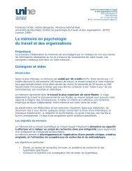 Le mémoire en psychologie du travail et des organisations