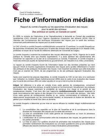 Fiche d'information médias