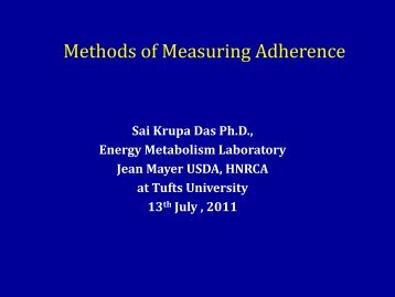 Measuring adherence by clinical methods - NIMBioS