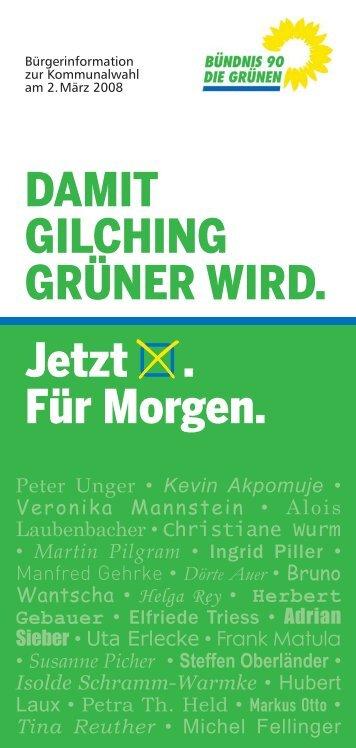 GRUENE-Faltblatt.pdf - Bündnis 90/Die Grünen Gilching