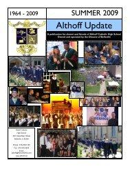 Summer Newsletter 2009 - Althoff Catholic High School