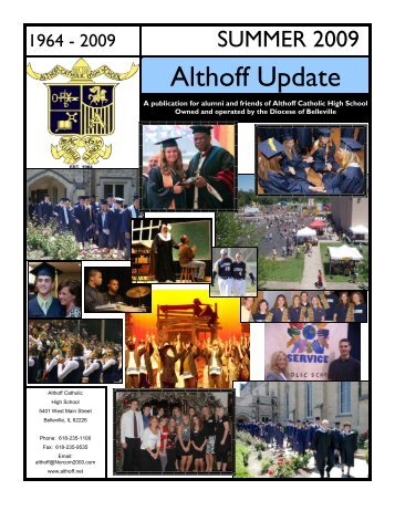 Summer Newsletter 2009 - Althoff Catholic High School