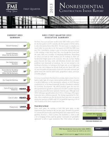 FMI's 2013 1st Quarter Nonresidential Construction Index Report