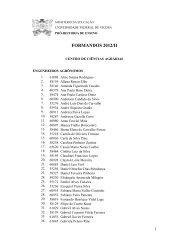 Lista dos formandos de 2012/II