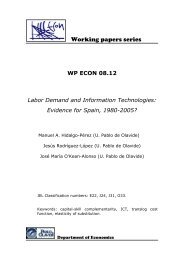 Working papers series - Universidad Pablo de Olavide