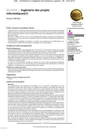 GLG206 - Ingénierie des projets informatiques(1) - Cnam
