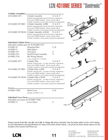 LCN 4310ME Series Parts List.pdf - Ingersoll Rand