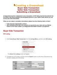 Creating a Greensheet - Keller Williams Realty