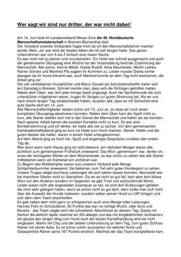 Norddeutsche Mannschaftsmeisterschaft - DVG-Landesverband ...