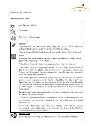 Modul: Soziale Kompetenz Kommunikations-Spiel zeitl ... - Pro-Skills