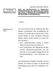 Rede anlässlich der Landestagung des Bayerischen ... - Freller, Karl