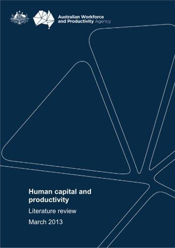 Human capital and productivity - AWPA