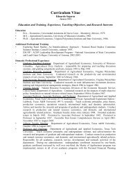 Curriculum Vitae - Department of Agricultural and Applied ...