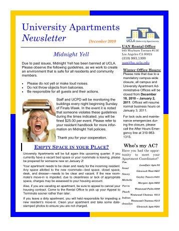2010 12 Dec Undergrad - Housing - UCLA