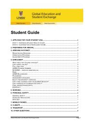 Student Survival Guide - the College of Business Study Abroad ...