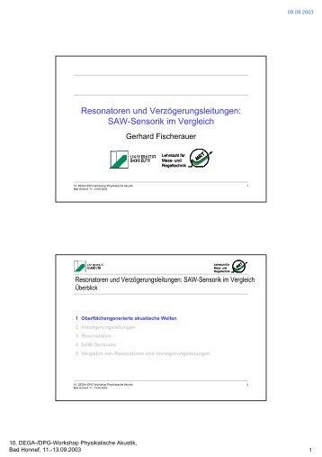Resonatoren und Verzögerungsleitungen: SAW-Sensorik im Vergleich